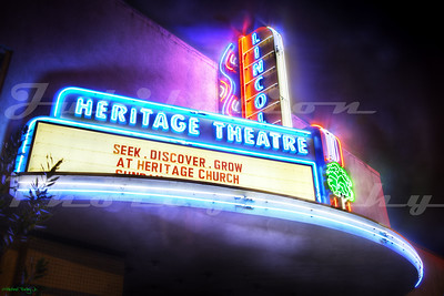 Opened in the 1920's as the Lincoln Theatre in Lincoln, CA, it's now owned by a church that renamed it the Heritage Theatre.