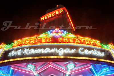The Merced Theatre, opened originally in 1931 in Merced, CA.  It was restored and reopened in 2012.