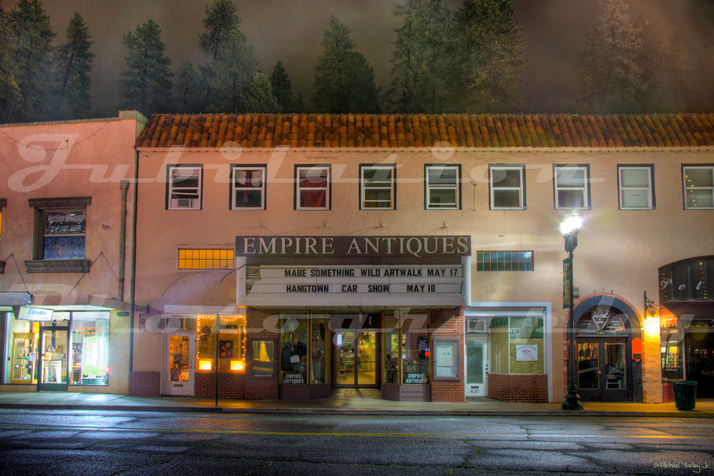 Though it was built in 1929, the Empire Theatre didn't open until 1930.  It replaced the Elite Theatre, which replaced the previous Empire Theatre.  It closed in the late 1990's when a multiplex opened up in town.  Though it's now an antique store, the inside is still recognizable as a theater.