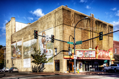 "One of many on my ""to re-shoot"" list, the Fox Theatre in Centralia, WA opened in 1930 and recently was restored to it''s original look.  When I visited this theater in 2010, the owner gave me a tour and told me that the colorful marquee is going to come down because of the impending restorations, and because the city of Centralia didn't appreciate the recent colorful paint job on the 50's or 60's style marquee.  Sure enough, it came down in the summer of 2011.  The new marquee went up in 2013."