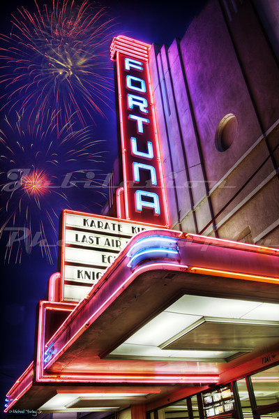 The Fortuna Theater in Fortuna, CA.  Opened in 1938 and still open.  This photo was taken on July 4, 2010.
