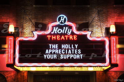 The Holly Theater, Medford, OR.  It opened in 1930.  After a period of deterioration and disuse, the exterior was recently restored to its former glory, with an official lighting ceremony in April of 2012.