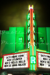 The Rogue Theatre, Grants Pass, OR.  Opened in 1938 and still serves as a live performance theater.