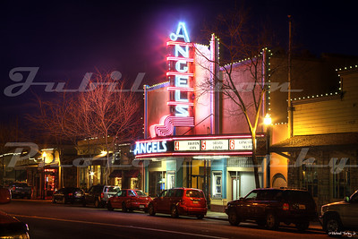 The Angels 6 Theatre, Angel's Camp, CA.  A beautiful theater, and a shining beacon in one of our Gold Rush era towns.  Opened in 1936 and still up and going.