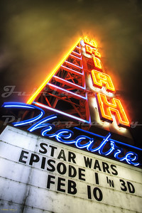 The sign in front of the Ukiah Theatre, Ukiah, CA.  Opened in 1948.  Now owned by Regal Cinema's.
