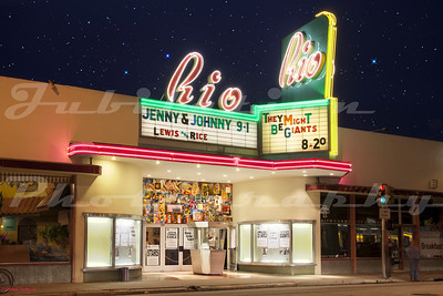 The Rio Theatre, Santa Cruz, CA.  Opened in 1949.
