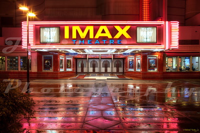 The Esquire IMAX Theatre, Sacramento, CA. The Esquire Theatre opened in 1940. In the 2000's, the theatre was gutted, and only the exterior preserved to build the IMAX theatre.