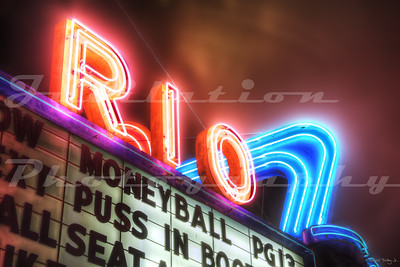 The Rio Theatre, Sweet Home, OR.  Opened in 1950.  Currently for sale by the owner.
