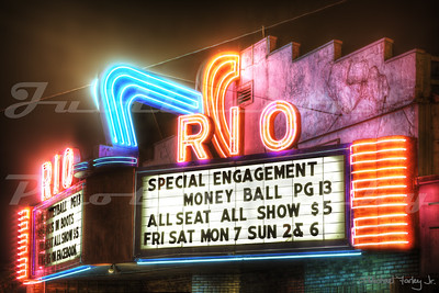 One of my personal favorite photos.  The Rio Theatre, Sweet Home, OR.  Opened in 1950.  Currently for sale by the owner.