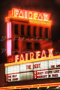 The Fairfax Theatre, Fairfax, CA.  Opened in 1950 and still operating.
