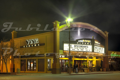 The Vine Cinema, Livermore, CA.  Opened in 1956.  So far, it's survived the arrival of a few different multiplexes in the area.
