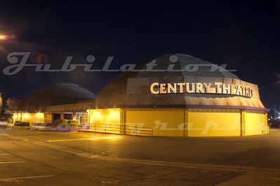 The Century Stadium 14 domes in Sacramento, CA, opened as the Century 21 in 1967. The domes were demolished in 2016.