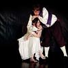 Petruchio (Cory Sampson) molests Kate (Mayuka Kowaguchi)'s head.