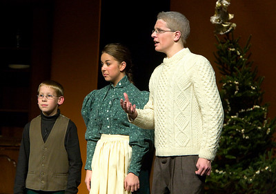 """The Christmas Schooner"" performed at Belvidere High School December 6, 2007. Ryan McKnight as Karl Stossel at age 9 Amanda Fischer as Alma Stossel Joey Bluege as Gustav Stossel"