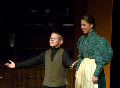 """The Christmas Schooner"" performed at Belvidere High School December 6, 2007. Ryan McKnight as Karl Stossel at age 9 Amanda Fischer as Alma Stossel"