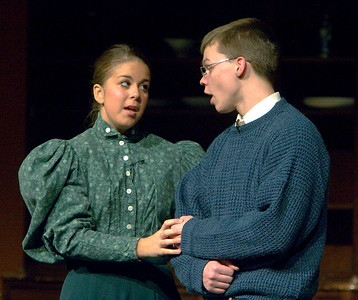 """The Christmas Schooner"" performed at Belvidere High School December 6, 2007. Amanda Fischer as Alma Stossel Cody Siemers as Peter Stossel"