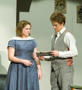 Dani Hillis as Mollie Ralston and Tony Jones as Christopher Wren