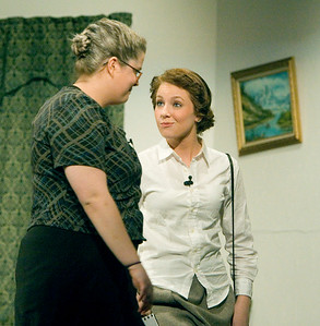 Kristina Lentz as Mrs. Boyle and Allycia Nelson as Miss Casewell