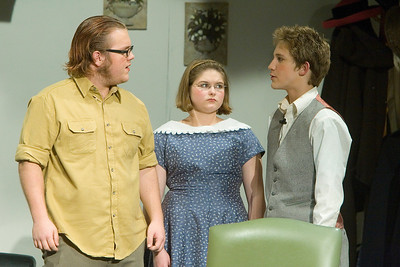 Johnny Lammersfield as Giles Ralston, Dani Hillis as Mollie Ralston, and Tony Jones as Christopher Wren