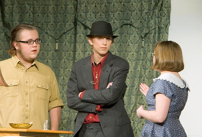 Johnny Lammersfield as Giles Ralston, Patrick Bird as Detective Sergeant Trotter, and Dani Hillis as Mollie Ralston
