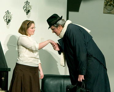 Dani Hillis as Mollie Ralston and Charlie Seekings as Mr. Paravinci