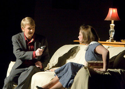 Patrick Bird as Detective Sergeant Trotter and Dani Hillis as Mollie Ralston