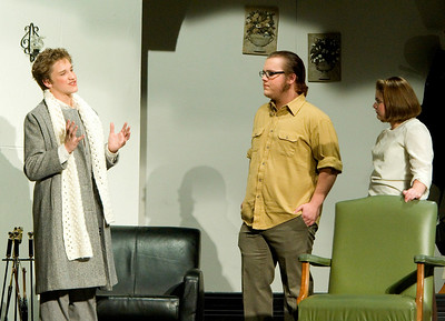 Tony Jones as Christopher Wren, Johnny Lammersfield as Giles Ralston, and Dani Hillis as Mollie Ralston