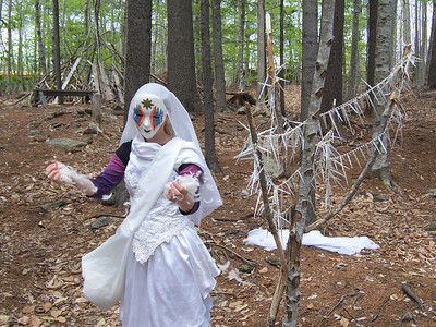 The audience is led into the forest and meets winter.  photo by Heather Holme