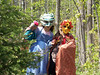 Two young actors in the woods waiting for their scene.<br /> <br /> photo by Heather Holme