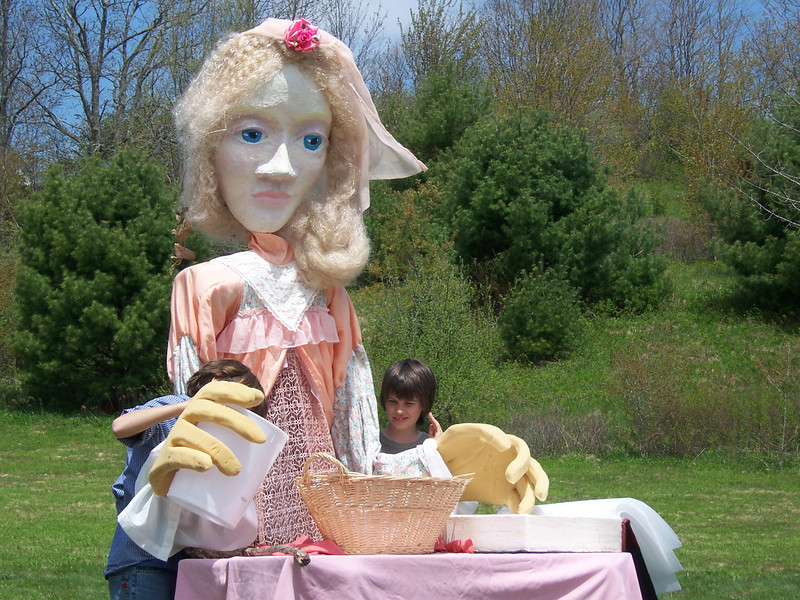 """Thumbelina""  Scene One: Young Miranda bakes a cake.<br /> <br /> Photo by Heather Holme"