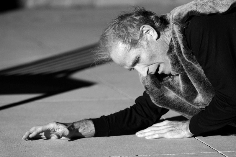"""Tom McWhorter performs (in a dress rehearsal), """"ADAM,"""" a one-man play he wrote that depicts four characters from the Bible, at the Lincoln Town Center in Lake Highlands on Friday, November 18, 2011."""
