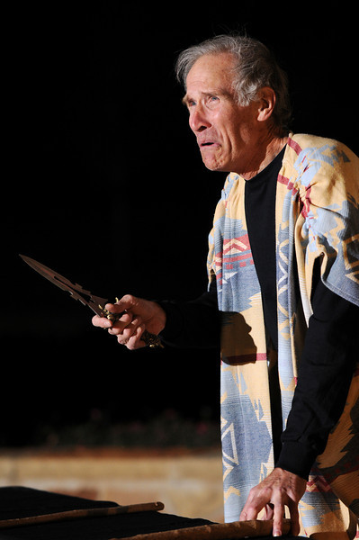 "Tom McWhorter performs (in a dress rehearsal), ""ADAM,"" a one-man play he wrote that depicts four characters from the Bible, at the Lincoln Town Center in Lake Highlands on Friday, November 18, 2011."