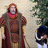 Tom McWhorter performs as Lord Capulet in Shakespeare's Romeo and Juliet Wednesday, May 1, 2013 at the Manske Library Amphitheater in Farmers Branch, TX.