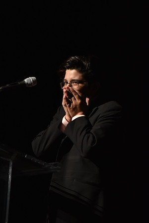 Sebastian Maizel gives an emotional and heartwarming acceptance speech for Male Dancer. Photo Credit Mort Shuman