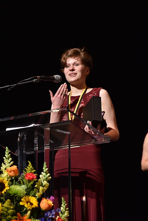 Lizzie Baumer accepts the award for Props. Photo Credit Mort Shuman