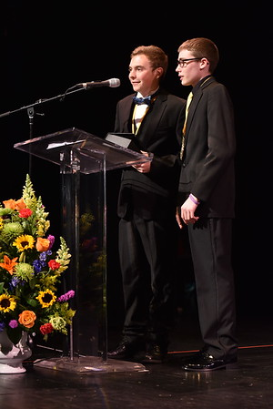 Andrew John and Jacob Robb accept the award for Sets. Photo Credit: Mort Shuman