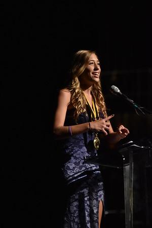 Madison Clay accepts the award for Choreography. Photo Credit: Mort Shuman