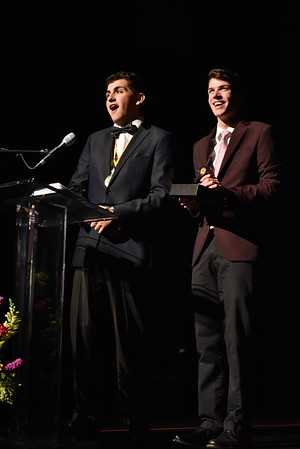 Jacob Miller and Jack Merson accept the award for Song. Photo Credit Mort Shuman