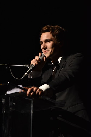 Sean Hirsch accepts the award for Lead Actor in a Play. Photo Credit Mort Shuman