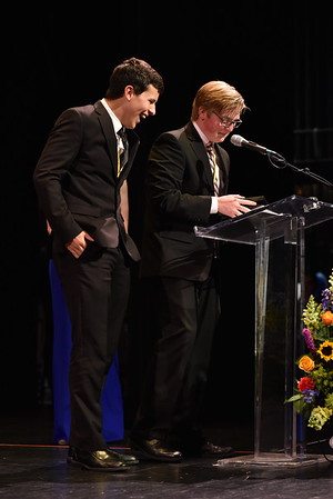 Brandon Dubbs and Drew Fornadel accept the award for Lighting. Photo Credit Mort Shuman