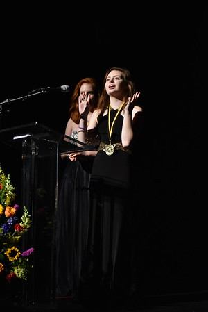 Representative of the Liberty Marketing team accepts the award for Marketing and Publicity. Photo Credit: Mort Shuman