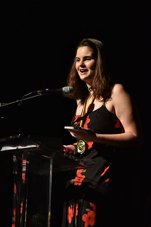 Lena Hanrahan accepts the award for Creativity. Photo Credit Mort Shuman