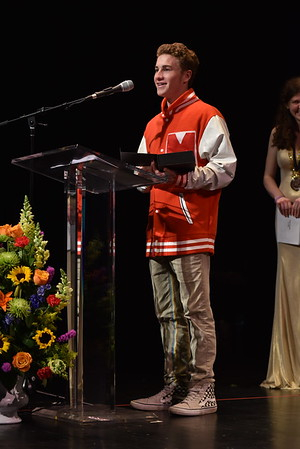 Andrew Spriggs, already in costume for his upcoming performance, accepts the award for Comic Actor in a Play. Photo Credit Mort Shuman