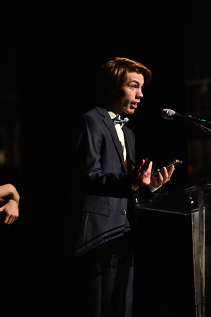 Ethan Kehring accepts the award for Male Vocalist. Photo Credit Mort Shuman