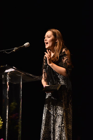 Grace Walworth accepts the award for Lead Actress in a Play. Photo Credit Mort Shuman