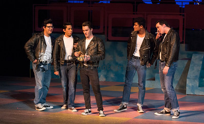 """3/7/18: Photographs taken during rehearsals for the Cypress College production of """"Grease."""".  Photo jim.mccormack@mac.com"""