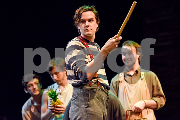 Actors perform Peter and the Starcatcher during a dress rehearsal at Tyler Junior College's Jean Browne Theatre in Tyler, Texas, on Wednesday, April 19, 2017. The show runs April 26-30. (Chelsea Purgahn/Tyler Morning Telegraph)