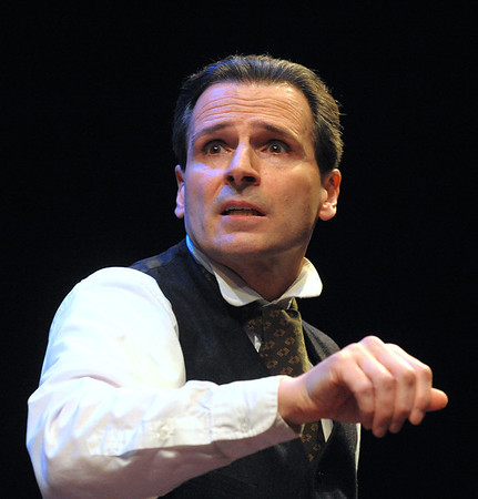 Paul Morella brings a unique and memorable version of A Christmas Carol to life this holiday season in  A CHRISTMAS CAROL: A GHOST STORY OF CHRISTMAS at Olney Theatre Center.  (Photo by Stan Barouh)