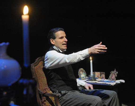 Paul Morella returns this holiday season to bring a unique and memorable tale of A CHRISTMAS CAROL: A GHOST STORY OF CHRISTMAS at Olney Theatre Center.  (Photo by Stan Barouh)