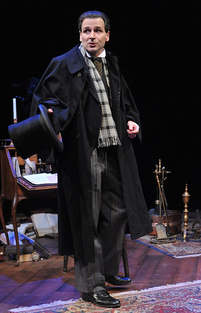 Paul Morella brings this unique and memorable story of A CHRISTMAS CAROL: A GHOST STORY OF CHRISTMAS to life at Olney Theatre Center.  (Photo by Stan Barouh)